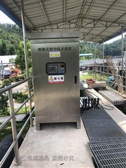 江西赣州定南县污水处理厂明渠安装现场